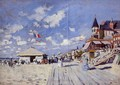 The Boardwalk On The Beach At Trouville - Claude Oscar Monet