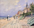 The Boardwalk At Trouville - Claude Oscar Monet