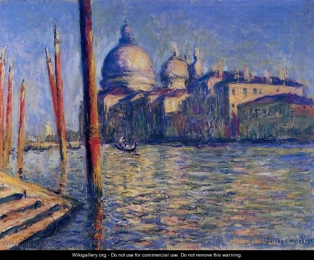 The Grand Canal And Santa Maria Della Salute - Claude Oscar Monet