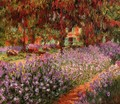 The Garden Aka Irises - Claude Oscar Monet