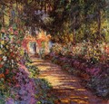The Flowered Garden - Claude Oscar Monet
