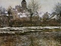 The Church At Vetheuil Snow - Claude Oscar Monet