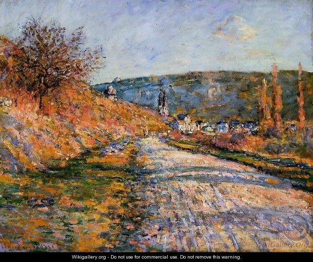 The Road To Vetheuil - Claude Oscar Monet