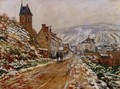 The Road In Vetheuil In Winter - Claude Oscar Monet