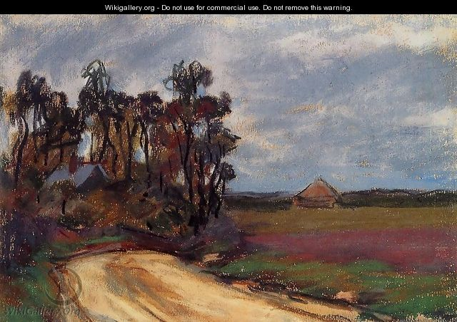 The Road And The House - Claude Oscar Monet