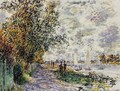 The Riverbank At Petit Gennevilliers - Claude Oscar Monet