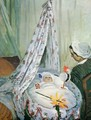Jean Monet In His Cradle - Claude Oscar Monet