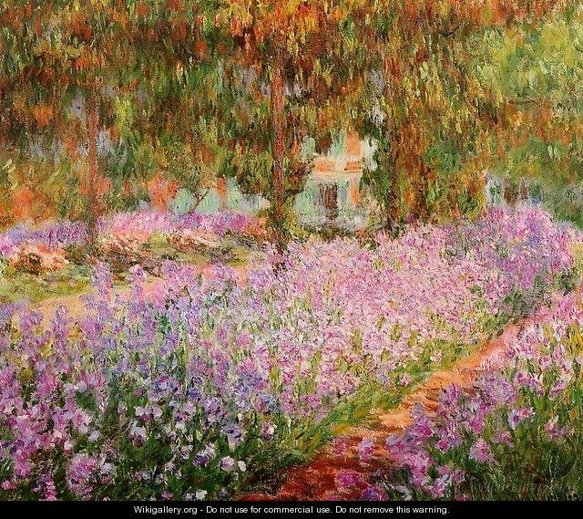 Irises In Monets Garden - Claude Oscar Monet