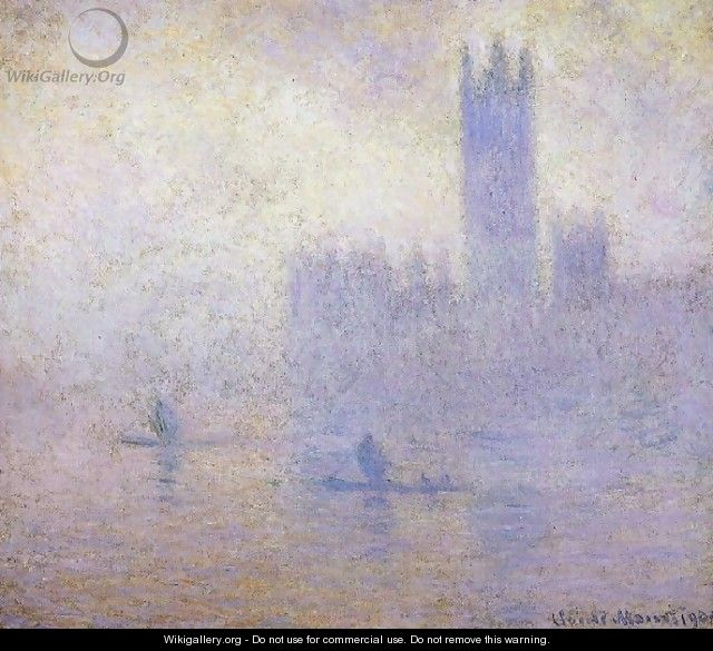 Houses Of Parliament Fog Effect - Claude Oscar Monet