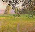 Morning Landscape Giverny Aka Landscape In The Morning - Claude Oscar Monet