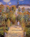 Monets Garden At Vetheuil - Claude Oscar Monet