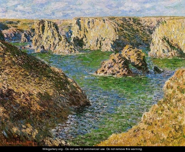 port donnant belle ile claude oscar monet wikigallery