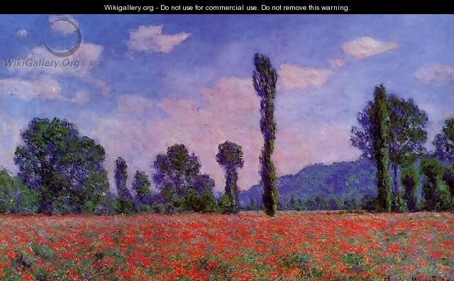 Poppy Field In Giverny - Claude Oscar Monet