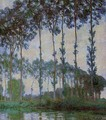 Poplars On The Banks Of The River Epte Overcast Weather - Claude Oscar Monet