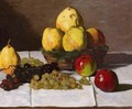 Still Life With Pears And Grapes - Claude Oscar Monet
