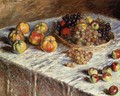 Still Life Apples And Grapes - Claude Oscar Monet
