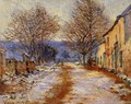 Snow Effect At Limetz - Claude Oscar Monet