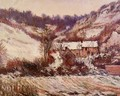 Snow Effect At Falaise - Claude Oscar Monet