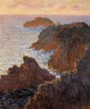 Rocks At Belle Ile Port Domois - Claude Oscar Monet