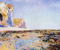 Beach And Cliffs At Pourville Morning Effect - Claude Oscar Monet