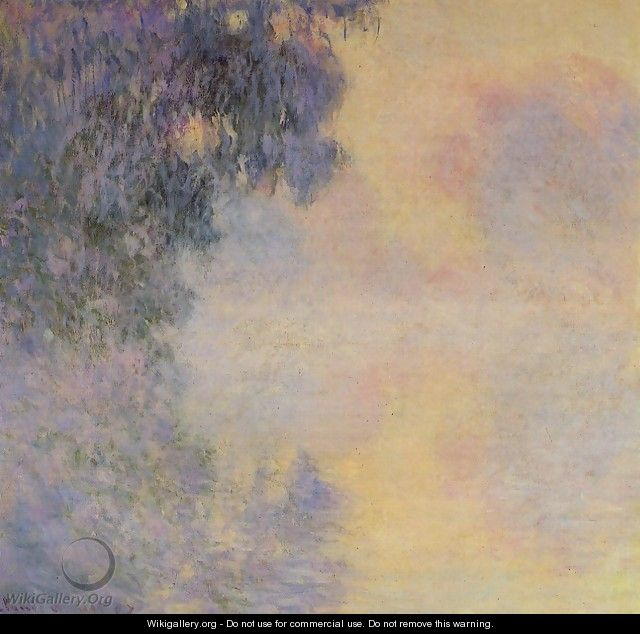 Arm Of The Seine Near Giverny In The Fog - Claude Oscar Monet