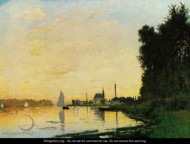 Argenteuil Late Afternoon - Claude Oscar Monet