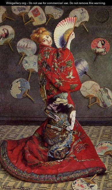 Camille Monet In Japanese Costume - Claude Oscar Monet