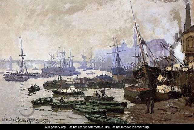 Boats In The Port Of London - Claude Oscar Monet