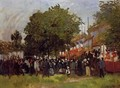 Fete At Argenteuil - Claude Oscar Monet
