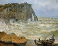 Etretat Rough Sea - Claude Oscar Monet