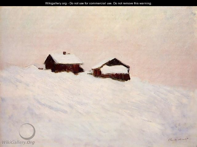 Houses In The Snow Norway - Claude Oscar Monet