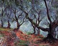 Grove Of Olive Trees In Bordighera - Claude Oscar Monet