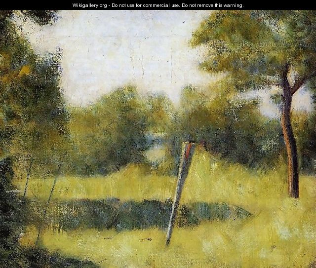 The Clearing Aka Landscape With A Stake - Georges Seurat
