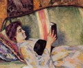 Portrait Of Marguerite Guillaumin Reading - Armand Guillaumin