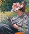 Madame Guillaumin Reading In The Garden - Armand Guillaumin