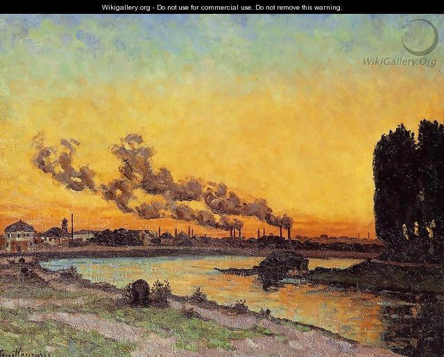Sunset At Ivry 1873 - Armand Guillaumin