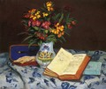Still Life With Box With Blue Gloves - Armand Guillaumin