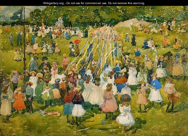 May Day Central Park2 - Maurice Brazil Prendergast
