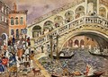 Rialto Bridge Aka The Rialto Bridge Venice - Maurice Brazil Prendergast