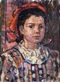 Portrait Of A Young Girl - Maurice Brazil Prendergast