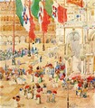 Piazza Of St Marks Aka The Piazza Flags Venice - Maurice Brazil Prendergast
