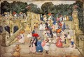 The Mall Central Park Aka Steps Central Park Or The Terrace Bridge Central Park - Maurice Brazil Prendergast
