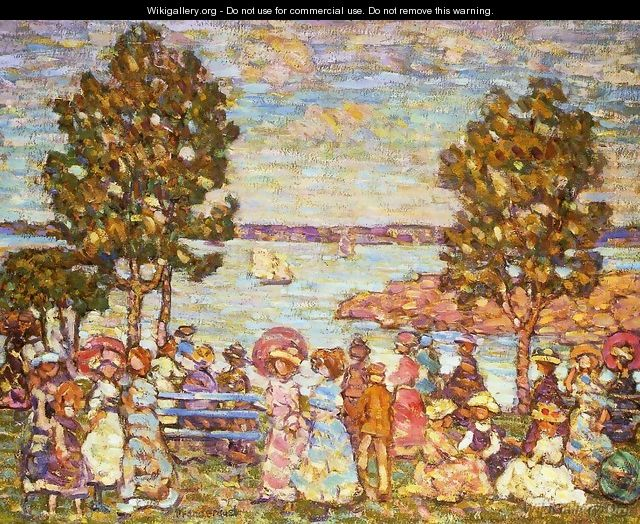 The Holiday Aka Figures By The Sea Or Promenade By The Sea - Maurice Brazil Prendergast