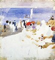 Sketch Figures On Beach Aka Early Beach - Maurice Brazil Prendergast
