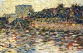 Courbevoie Landscape With Turret - Georges Seurat