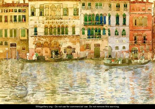 Venetian Palaces On The Grand Canal - Maurice Brazil Prendergast