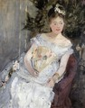 Portrait Of Marguerite Carre Aka Young Girl In A Ball Gown - Berthe Morisot