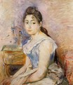 Young Woman In A Blue Blouse2 - Berthe Morisot