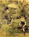 Young Woman And Child On An Isle - Berthe Morisot
