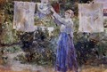 Woman Hanging Out The Wash - Berthe Morisot